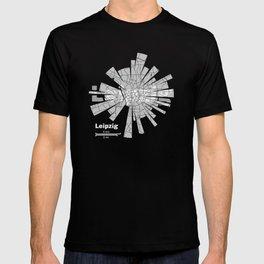 Leipzig Map T-shirt
