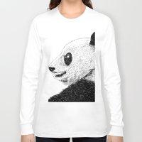 pandas Long Sleeve T-shirts featuring pandas by barmalisiRTB