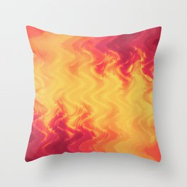 The volcano, abstract eruption and fire flames in hot colors Throw Pillow