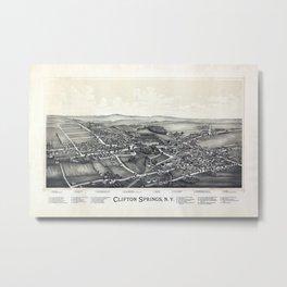 Clifton Springs - New York - 1892 Metal Print