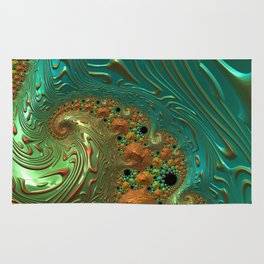 Cool Creamsicle - Fractal Art Rug