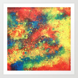 Print of painted abstract art Art Print