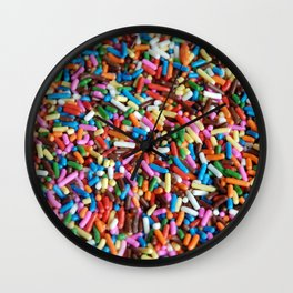 Rainbow Sprinkles Wall Clock