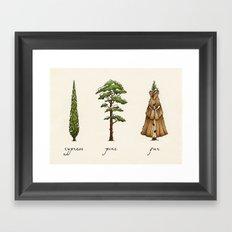 Fur Tree Framed Art Print