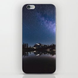 Summer Stars - Galaxy Mountain Reflection - Nature Photography iPhone Skin