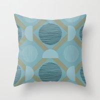 grid Throw Pillows featuring grid by Rosie Elizabeth Atkinson