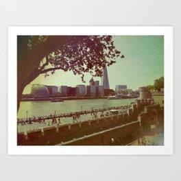 London Tower Thames Art Print