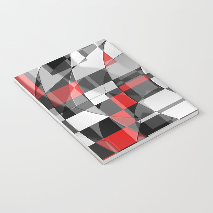 black and white meets red Version 1 Notebook