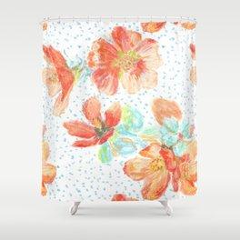 Desert Mallow floral pattern Shower Curtain