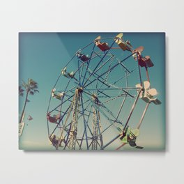 Ferris Wheel at The Balboa Fun Zone Metal Print