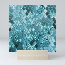 Mermaid Glitter Scales #4 #shiny #decor #art #society6 Mini Art Print