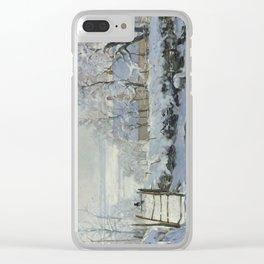 Monet, The Magpie (La Pie) (Die Elster) 1868-1869 Clear iPhone Case