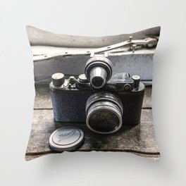 The Old Leica Throw Pillow