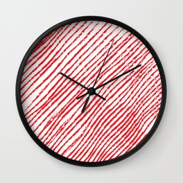 Candy Cane (The raw version) - Christmas Illustration Wall Clock