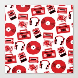 Red Music Canvas Print