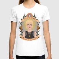 "karu kara T-shirts featuring Kara ""Starbuck"" Thrace by heymonster"