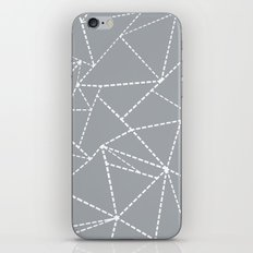 Abstract Dotted Lines Grey iPhone & iPod Skin