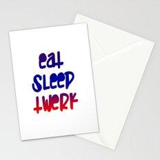 Eat Sleep Twerk Stationery Cards