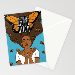 My Dreams Are Not Illegal Stationery Cards