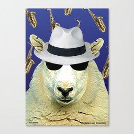 Jazz Sheep Canvas Print