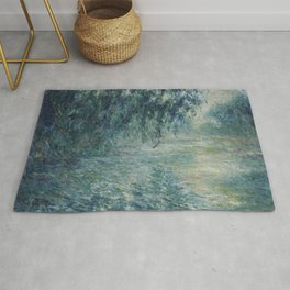Morning on the Seine, Claude Monet Rug