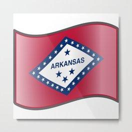 Waving Flag of Arkansas Metal Print
