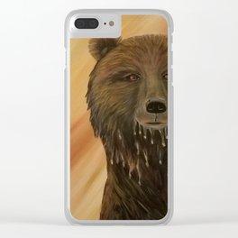 A Wet Bear Clear iPhone Case