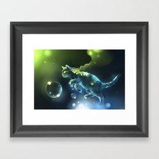 Aqua Apparition Framed Art Print