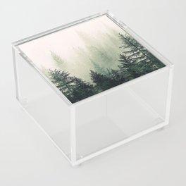 Foggy Pine Trees Acrylic Box