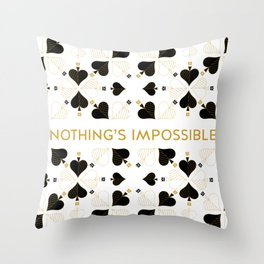 Nothing's Impossible Throw Pillow