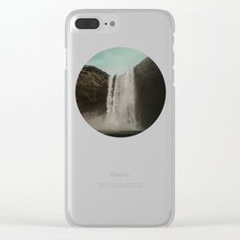 Iceland Waterfall x Skógafoss Clear iPhone Case
