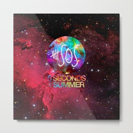 5 SOS 5 seconds of summer Galaxy Nebula Metal Print