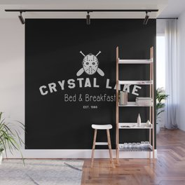 Crystal Lake Bed & Breakfast, Former Camp Crystal, Est.1980, Design for Wall Art, Posters, Tshirts, Men, Women Wall Mural