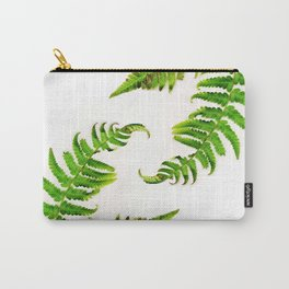 Fern on white - double Carry-All Pouch