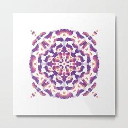 Purple and Pink Painted Mandala - Abstract Boho Indie Free Spirit Metal Print
