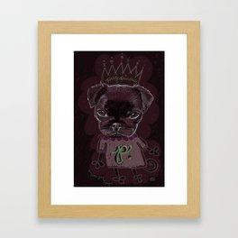 Pug Princess Framed Art Print