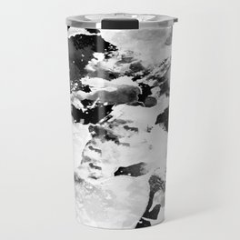 Blk Marble Travel Mug
