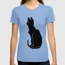 Life With Black Cats Vector T-shirt