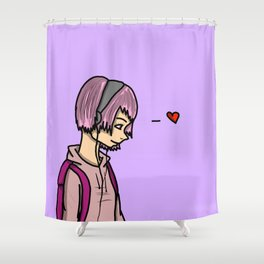 Listening in Love | Veronica Nagorny  Shower Curtain