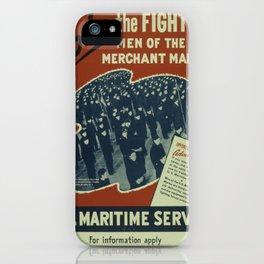 Vintage poster - U.S. Maritime Service iPhone Case