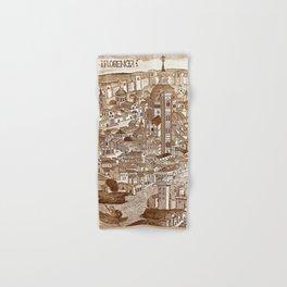 Florencia Sepia Hand & Bath Towel