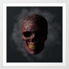 Organic Skull 01 Art Print
