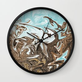 Reaching to the Heavens Wall Clock