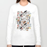 bag Long Sleeve T-shirts featuring Kawaii Ghibli Doodle by KiraKiraDoodles