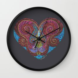 Heart Totem Wall Clock