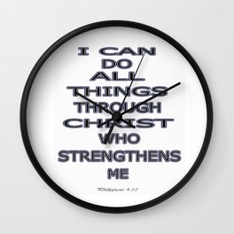 I Can Do All Things Wall Clock