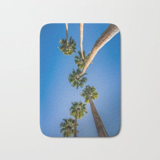Upside Down LA Palms Bath Mat