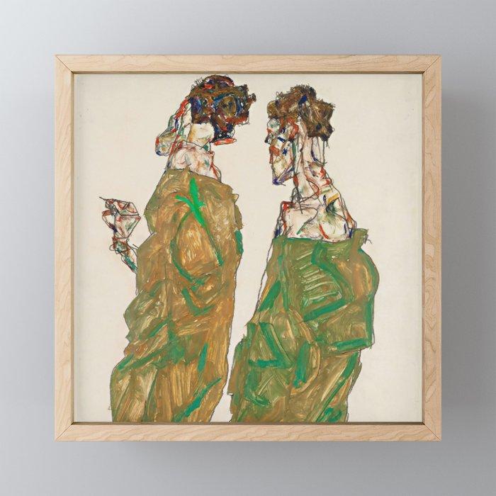 "Egon Schiele ""Devotion"" Framed Mini Art Print"