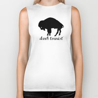 buffalo Biker Tanks featuring Buffalo by DarkTourist