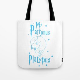 Platypus Patronus Tote Bag